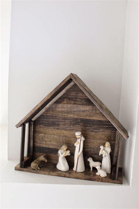 nativity stable ideas  pinterest nativity