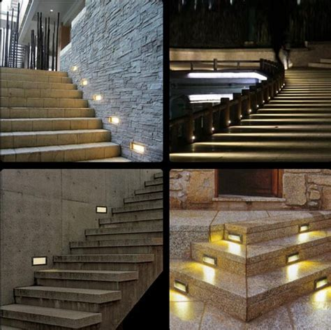 10pcs bright 3w aluminium led wall corner light ip67 waterproof led footlight stair lights