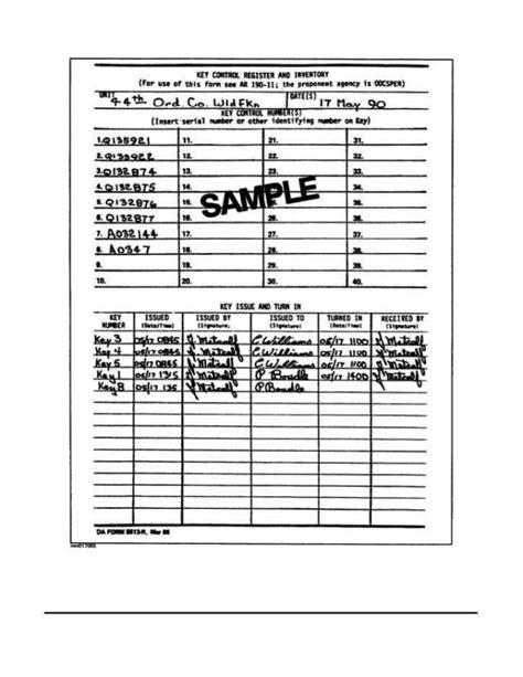 key control form template sampletemplatess