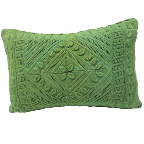 Decorative Lumbar Pillows Green by Vintage Green Crochet Lumbar Decorative Pillow For