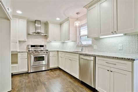 ?After? Flip Photos: kitchen with white custom cabinets