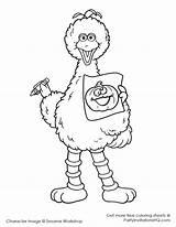 Sesame Coloring Clipart Bird Clip Cartoons sketch template