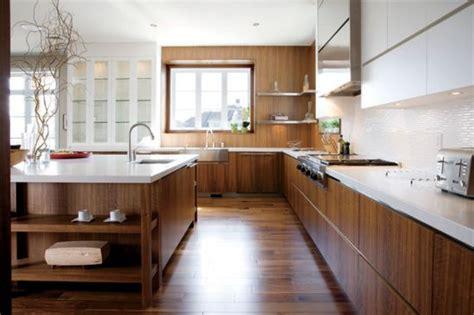 cuisine noyer 10 décors de style contemporain cuisine quartz blanc et
