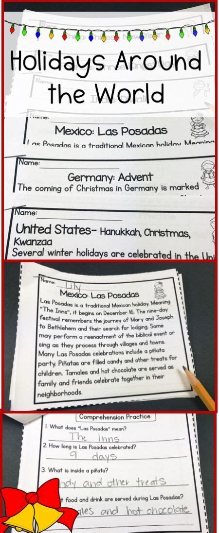 holidays around the world upper elementary reading comprehension passages all about teaching
