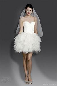 Modern trousseau fall 2014 wedding dresses wedding for Modern short wedding dresses