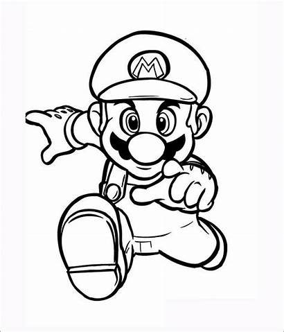 Mario Coloring Template Super Jumping Pages Templates