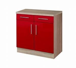 Unterschrank Küche 100 Cm : k chen unterschrank berlin 2 t rig 100 cm breit hochglanz rot eiche sonoma k che berlin ~ Bigdaddyawards.com Haus und Dekorationen