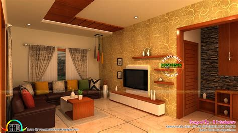 kitchen dining  living interior designs kerala home