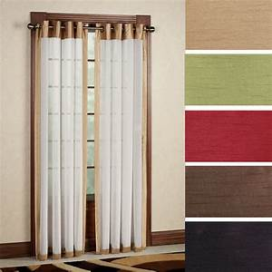 Soho tailored sheer grommet curtain panels for Grommet curtains with sheers