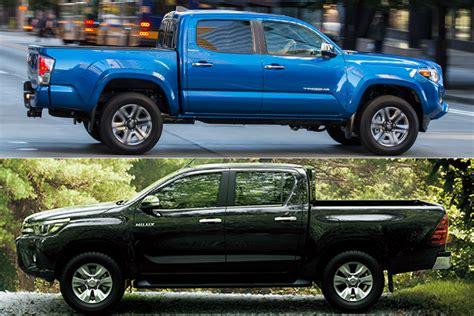 2018 Toyota Tacoma Vs. 2018 Toyota Hilux