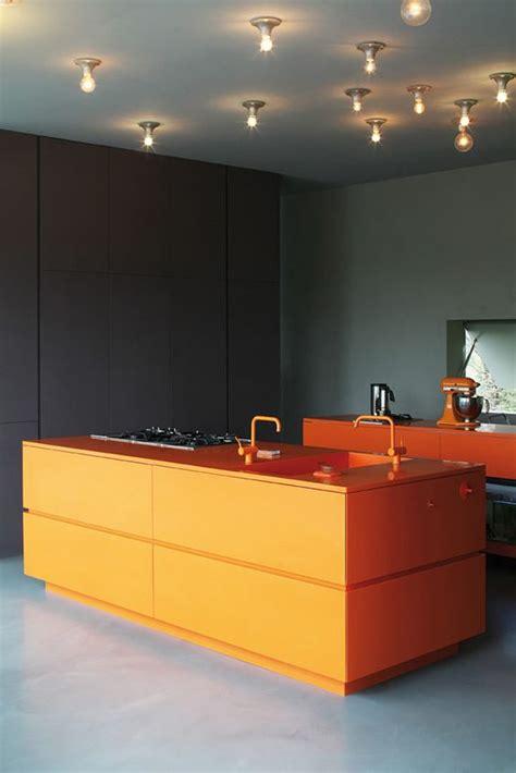 orange kitchen island 27 cheerful orange kitchen decor ideas digsdigs 1219