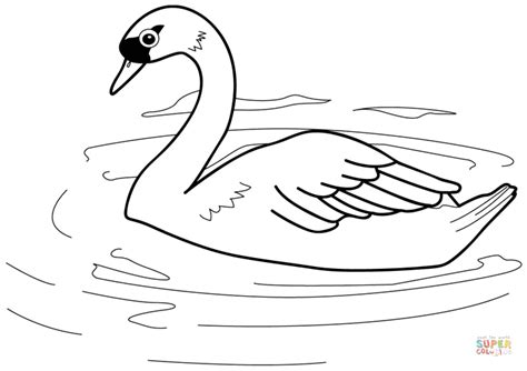 jam din din related swan coloring page free printable coloring pages