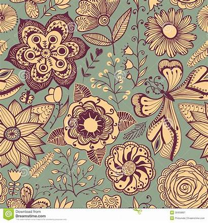 Wall Seamless Pattern Floral Background Theme Summer