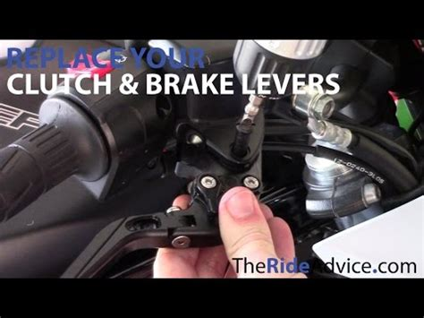 How To Replace Your Motorcycle Brake Lever And Motorcycle