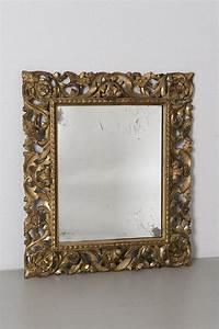 Miroir Doré Rectangulaire : miroir rectangulaire cadre en bois dor ajour italien du ~ Teatrodelosmanantiales.com Idées de Décoration