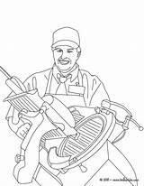 Coloring Hellokids Ham Butcher Colorear Imprimer Coloriage Slicing Metier Colorir Carne Dibujos Ausmalen Zum Schlachter Trator Coloriages Carnicero Schneidet Schinken sketch template