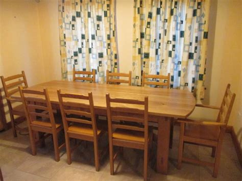 oak dining table and 8 chairs for sale solid oak long dining table and 8 chairs for sale in