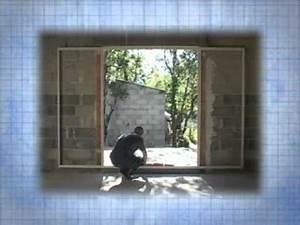 Pose d39une baie en galandage youtube for Porte de garage de plus baie vitrée galandage