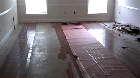 can you install engineered hardwood on concrete hardwood floors over concrete floors diy youtube