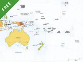 Australia Continent Map Vector