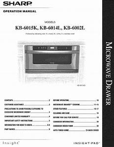 Sharp Kb 6002lk User Manual Microwave Drawer Manuals And