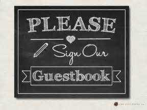 poloroid guest book sign our guestbook sign printable chalkboard