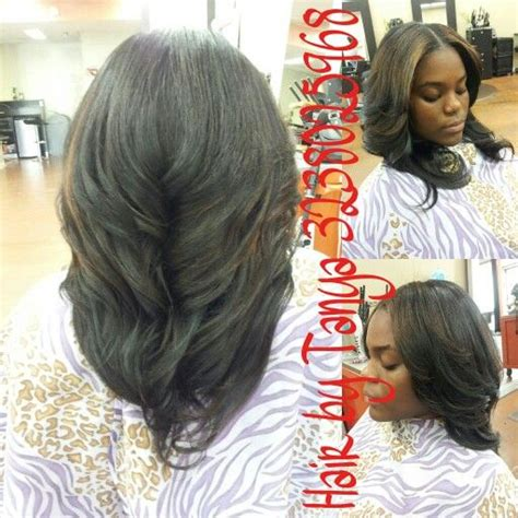 Sewed In Weave Hairstyles by Partial Sewed In Weave With Middle Part Partial Weaves