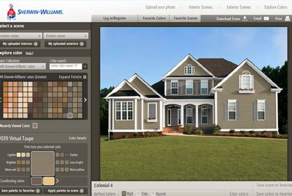 best exterior house color visualizer free home painting