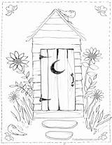 Outhouse Coloring Pages Bathroom Drawing Colouring Cross Country Scene Christmas Sheets Horse Scenes Adult Watercolour Books Getdrawings Freesawpatterns Buggy sketch template