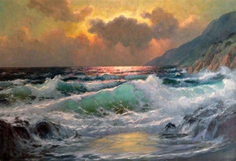 Untitled Seascape 26x38 By Alex Dzigurski