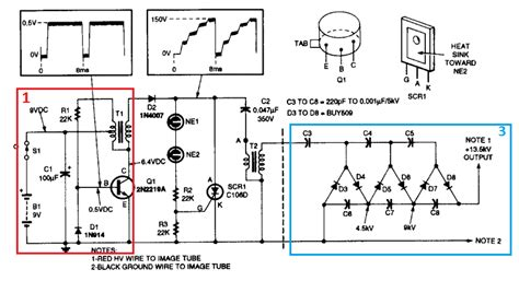 Boost High Voltage Low Current Power Supply For Night
