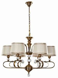 Light fabric drum shaped shade chandelier with crystal