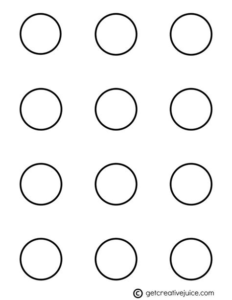 1 Inch Template A Size Template For 1 Inch Buttons That 6 Best Images Of Macaron Template Printable