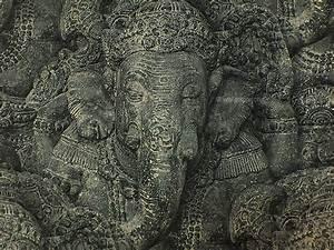 Wallpaper John's – Stone effect elephant wallpaper in ...