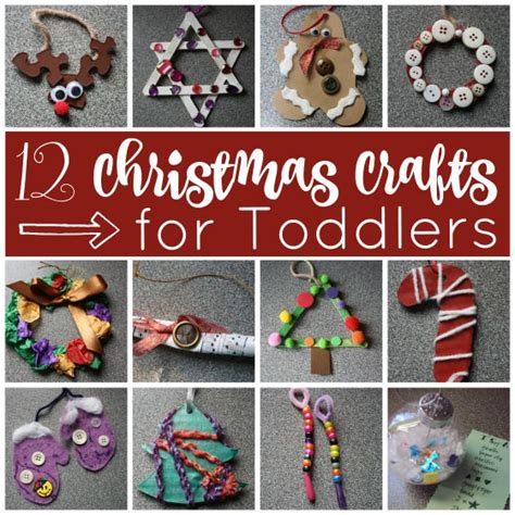 12 easy christmas crafts for toddlers happy hooligans