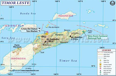 timor leste map physical map pinterest explore  city
