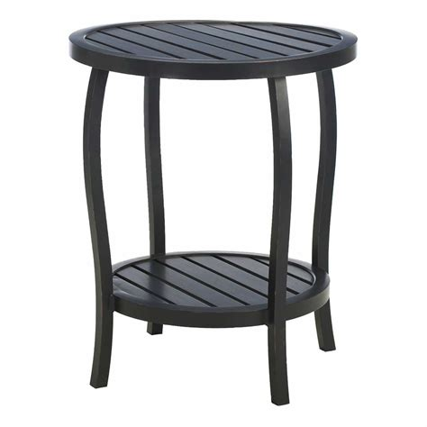 cottage metal outdoor end tables