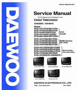 Schematic Diagram Manual Daewoo Dtw 2900st Color Tv