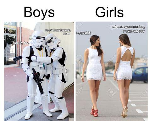 boys  girls  wearing  clothes  mocking memes