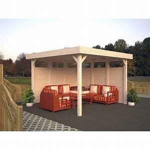 Pavillon Holz Flachdach : palmako holz pavillon lucy 230 cm x 349 cm x 349 cm kaufen bei obi ~ Orissabook.com Haus und Dekorationen