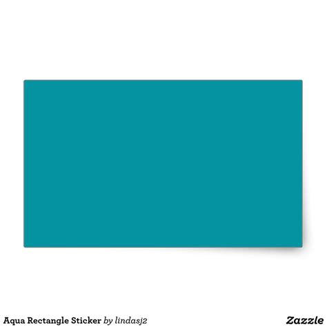 aqua rectangle sticker zazzle rectangle custom