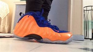 Knicks foamposite on feet with joggers - YouTube