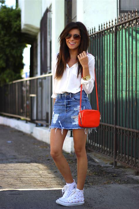 Denim Skirts are Cool Again - Sazan
