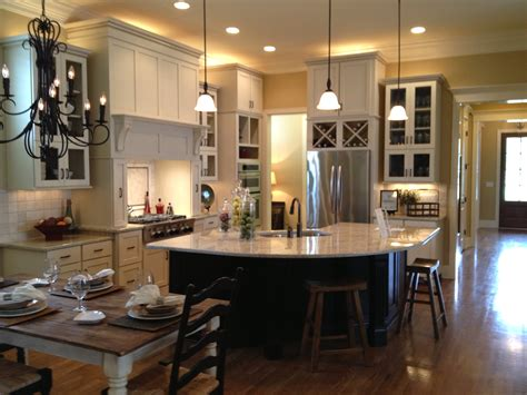 Open Kitchen Dining Room Floor Plans  Large And Beautiful