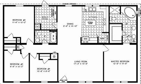 1600 square foot house plans rectangular 3 bed 2 bath
