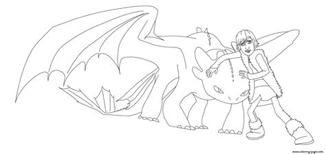 How To Train Your Dragon Hiccup And Toothless Coloring