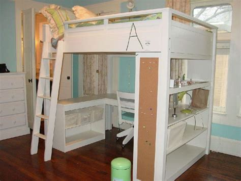 loft bed with desk underneath furniture full size corner loft bunk bed with desk and