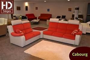 canape contemporain fixe ou relax rouge et blanc sur With canape sur mesure en cuir