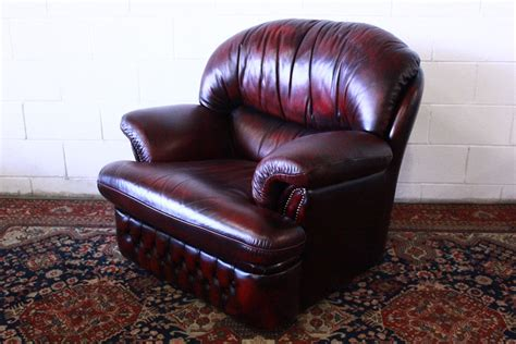 Poltrona Reclinabile Bordeaux : Poltrona Chesterfield Originale Made In Uk, Modello Alto