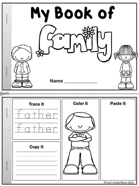 word book  family members ingles  preescolar
